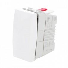 electrice vrancea - intrerupator simplu schneider unica, incastrat, modular, alb - schneider - mgu3.101.18