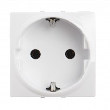 electrice vrancea - priza schuko schneider unica, incastrata, modulara, 2m, alba - schneider - mgu3.036.18