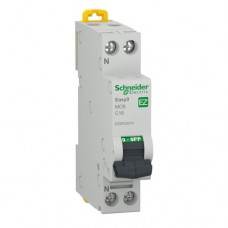 Intrerupator automat modular Schneider, 4.5kA, 1P+N, 16A, curba C