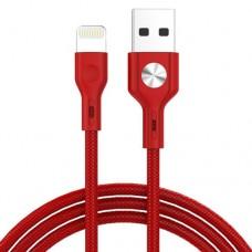 Cablu USB iPhone Lightning CD Leather Golf GC-60i ROSU