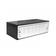 electrice vrancea - spot led, incastrat, dreptunghiular, 0,8 w, 12 leduri, lumina calda, 145x45 mm, alb, ip 54 - lumen - 00-9801/cald