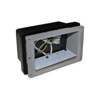 Spot LED incastrat, dreptunghiular, 1 W, 16 leduri, lumina calda, 162x100 mm, alb, IP 54