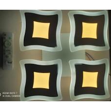materiale electrice - lustra led moderna cu telecomanda model nou, 120w, 4 moduri de funcționare, mod lumina de veghe, dimabila. - horoz electric - 19455