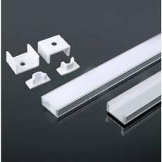 electrice vrancea - profil din aluminiu, pentru banda led, aplicat - v-tac - vt-8113-w